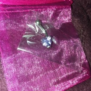 Purple heart belly ring